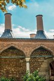 Roof Example of Ottoman Turkish architecture. In Istanbul royalty free stock image