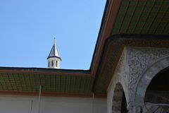 Roof Example of Ottoman Turkish architecture. In Istanbul royalty free stock photos