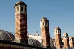 Roof Example of Ottoman Turkish architecture. In Istanbul stock images