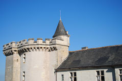 The roof and facade of the castle Royalty Free Stock Photo