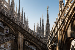 Roof of the Famous Milan Cathedral Stock Photography