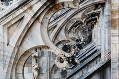 Roof of the Famous Milan Cathedral Royalty Free Stock Images