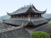 Roof at Fengdu County Royalty Free Stock Photography