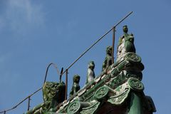 Roof Figurines Royalty Free Stock Image