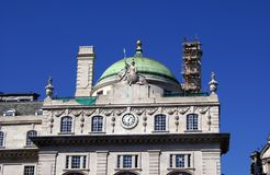 Roof of Fire County Office in Piccadilly, London, England Stock Photos