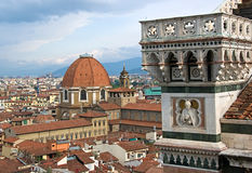 Roof of Firenze. View on Church Santa Maria del Fiore and roof of Firenze, Italy Royalty Free Stock Image