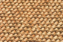 Roof with flamed tiles Stock Images
