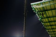 Roof of football stadium. Royalty Free Stock Photography