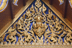 Roof fragment of King Palace in Bangkok. Royal Pavilion Mahajetsadabadin in Thailand Stock Photo