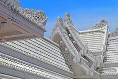 Roof fragment of Thai Temple in Lumbini, Nepal - birthplace of Buddha. Siddhartha Gautama stock photo