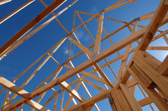 Roof frame. Structure of a house under construction Stock Photography