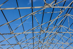 Roof frame of business building under construction Royalty Free Stock Image