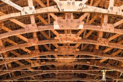 Roof frame and ceiling - Architectural background royalty free stock images