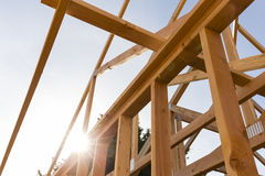 Roof frame of house Stock Photos