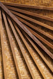 Roof frame from wood background Stock Photos