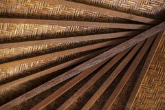 Roof frame from wood background Royalty Free Stock Photo