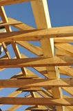 Roof Framework. Wooden roof framework under the blue sky royalty free stock photography