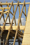 Roof Framework. Of a single family house stock photo