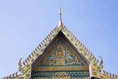 Roof gable Buddhist Temple in Thai style Stock Photos