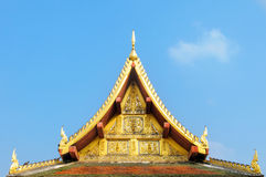 Roof gable temple. In Thai style Stock Photos