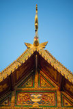 Roof gable temple in Thai style. Royalty Free Stock Images