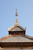 Roof gable temple in Thai style Stock Photo