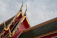Roof gable in Thai style, Wat Pho, Thailand Royalty Free Stock Images