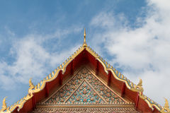 Roof gable in Thai style, Wat Pho, Thailand Stock Image
