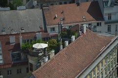 Roof garden in Vienna Stock Image