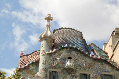 Roof of Gaudi building in Barcelona Royalty Free Stock Photography