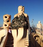 Roof of Gaudi's la pedrera Royalty Free Stock Image
