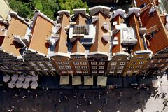 Roof of gdansk. Viewed by the cathedral royalty free stock photos