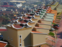 Roof Geometry. Roof shapes to blocks of apartments, in Turkey Stock Photography