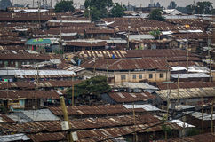 Roof of the ghetto in Nairobi Stock Images