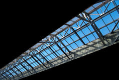 Roof from glass. In the perspective Royalty Free Stock Photos