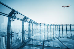 Roof glass platform Stock Photography