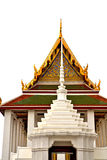 Roof  gold    temple   in    incision of the Stock Image