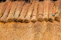 Roof Grass Thatching Construction Royalty Free Stock Images