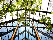 The roof of green house royalty free stock photography