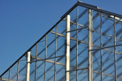 Roof of Greenhouse Against Blue Sky Royalty Free Stock Photos
