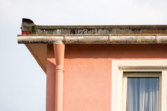 Roof gutter Royalty Free Stock Image
