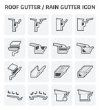Roof Gutter Icon Stock Photography