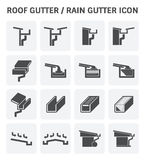 Roof Gutter Icon Stock Image