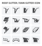 Roof Gutter Icon Stock Photos