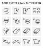 Roof gutter icon Royalty Free Stock Images