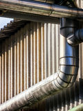 Roof gutter Stock Photography