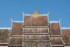 Roof of Haw Pha Bang Stock Image