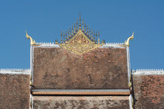 Roof of Haw Pha Bang Royalty Free Stock Image