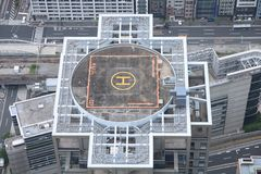 Roof helicopter pad Stock Photo