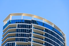 Roof of high rise bulding in Gold Coast, QLD, Australia Royalty Free Stock Photo